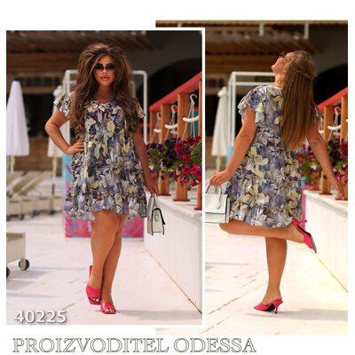 Платье ig-7209 женское юбка отделка рюш R-40225 синий
