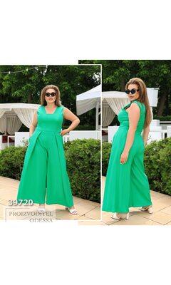 Комбинезон m-75/75 женский с широкими штанами R-39720 зеленый