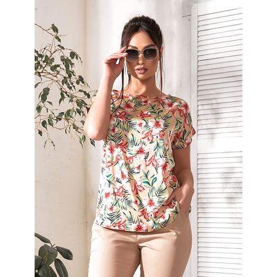 Костюм двойка bb-143 женский повседневный блуза+брюки бежевый Производитель Одесса