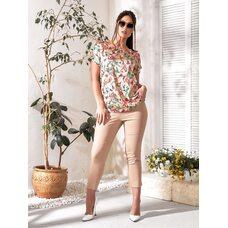 Костюм двойка bb-143 женский повседневный блуза+брюки бежевый