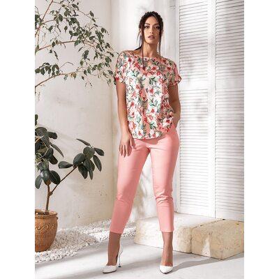 Костюм двойка bb-143 женский повседневный блуза+брюки пудра Производитель Одесса