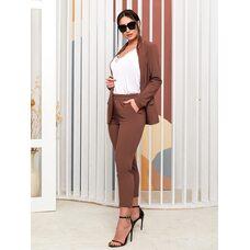 Костюм тройка bb-1432 женский брюки/пиджак/майка  капучино+белый