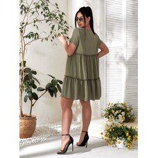 Платье летнее bb-183 хаки