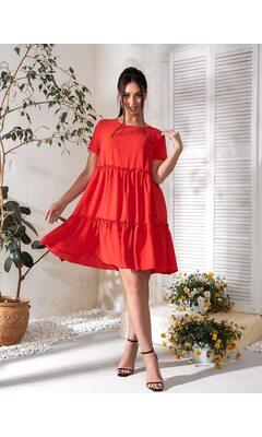 Платье летнее bb-183 красный
