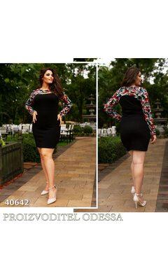 Платье mv-2028 приталенное верх с притом R-40642 черный