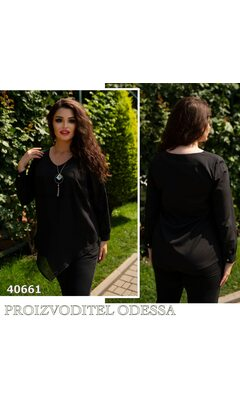 "Блуза rt-139 женская ""Угол"" R-40661 черный"