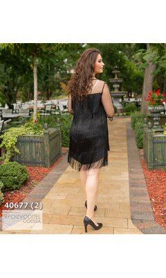 Платье ia-824 коктейльное отделка бахрама R-40677 черный