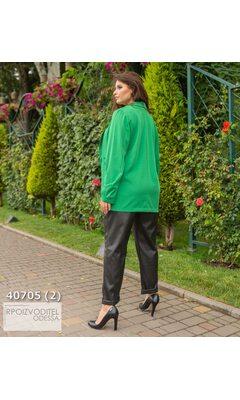 Пиджак s-1023 женские без подкладки однотонный R-40705 зеленый