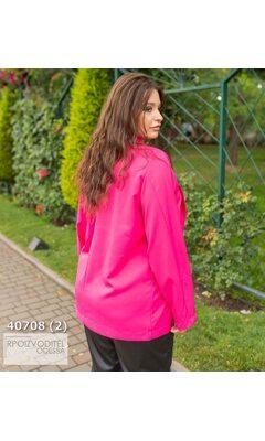 Пиджак s-1023 женские без подкладки однотонный R-40708 малиновый