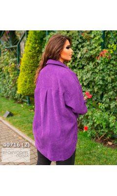 Рубашка y-1063 вельветовая с длинным рукавом R-40716 фиолетовый