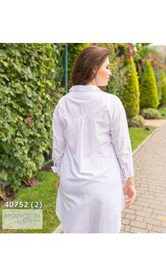 Рубашка женская удлиненная R-40752 белый